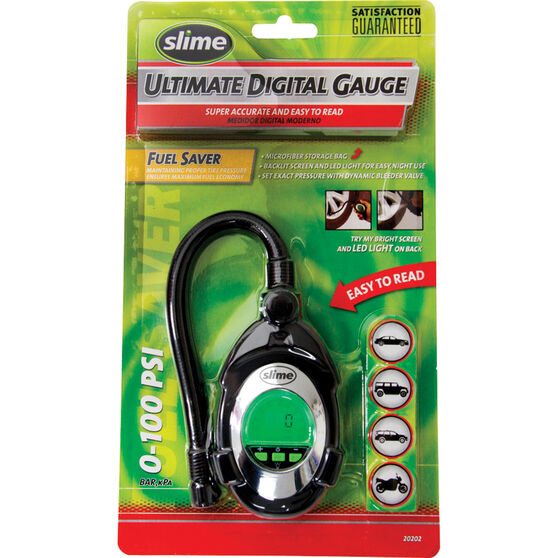 Slime Digital Deluxe Tyre Gauge - 0-100 PSI, , bcf_hi-res