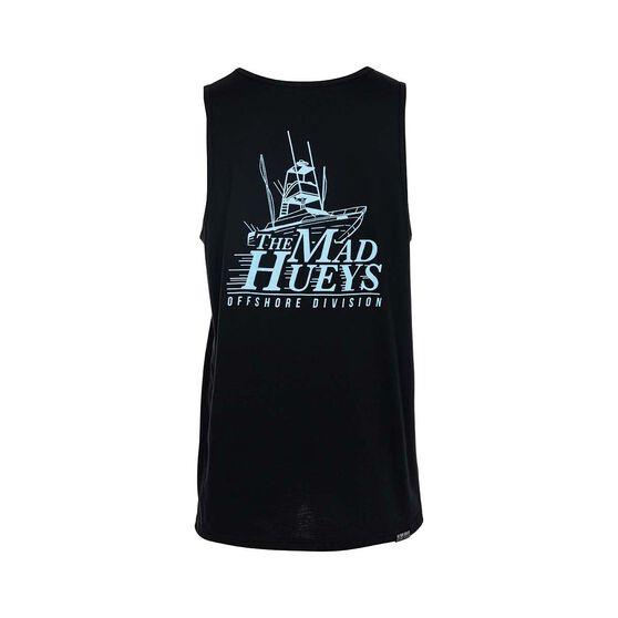 The Mad Hueys Men's Offshore UV Tank, Black / Blue, bcf_hi-res