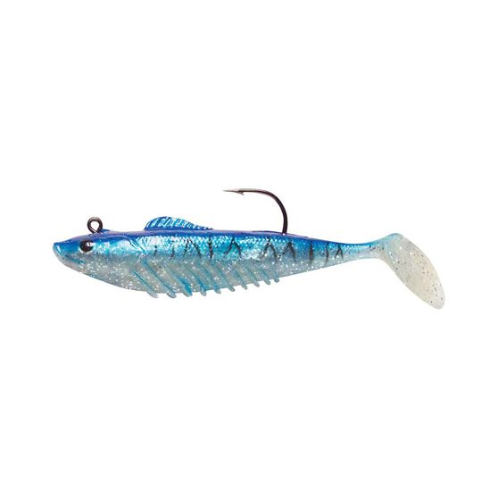 Squidgies Slick Rig Soft Plastic Lure 100mm True Blue, True Blue, bcf_hi-res