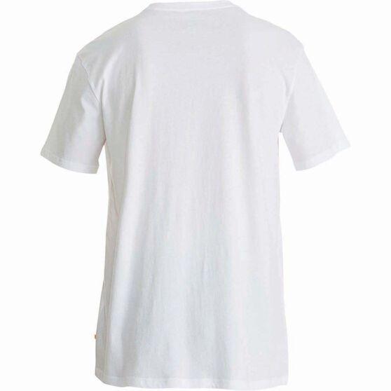 Quiksilver Men's Established II Tee White M Men's, White, bcf_hi-res