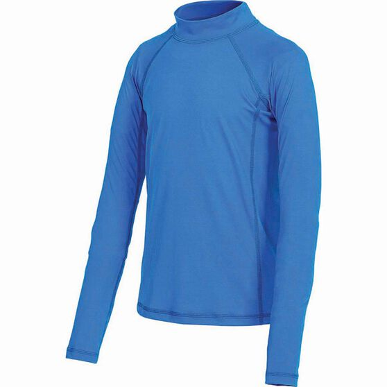 OUTRAK Kids' Long Sleeve Rashie, Blue, bcf_hi-res