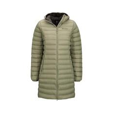 Macpac Women's Uber Light Long Jacket Oil Green 8, Oil Green, bcf_hi-res
