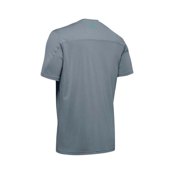 Under Armour Men's Iso-Chill Fish Hook Short Sleeve Tee Hushed Turquoise M, Hushed Turquoise, bcf_hi-res