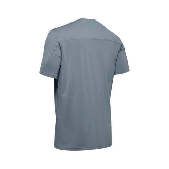 Under Armour Men's Iso-Chill Fish Hook Short Sleeve Tee, Hushed Turquoise, bcf_hi-res