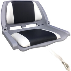 Bowline Padded Folding Tinnie Seat Charcoal, Charcoal, bcf_hi-res
