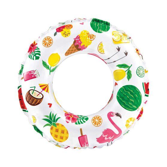 Intex Lively Printed Inflatable Swim Ring, , bcf_hi-res