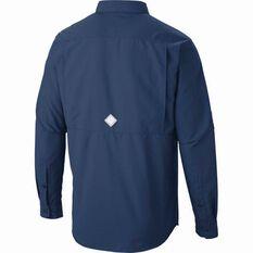 Columbia Men's Cascade Explorer Long Sleeve Shirt Carbon Blue S, Carbon Blue, bcf_hi-res