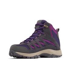 Columbia Women's Crestwood Mid Hiker Boots Deep Purple / Wild Iris 6, Deep Purple / Wild Iris, bcf_hi-res