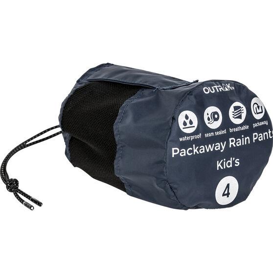 OUTRAK Kids' Packaway Rain Pants, Night, bcf_hi-res