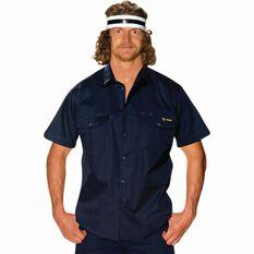 Tradie Men's Short Sleeve Drill Shirt Navy S, Navy, bcf_hi-res
