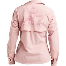 The Mad Hueys Women's Offshore Long Sleeve Fishing Shirt Rose XS, Rose, bcf_hi-res