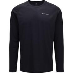 macpac Men's Eyre V2 Long Sleeved Tee Black S, Black, bcf_hi-res