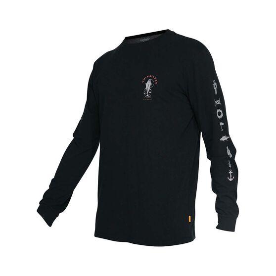 Quiksilver Waterman Men's Sea Grove Long Sleeve Tee, Black, bcf_hi-res