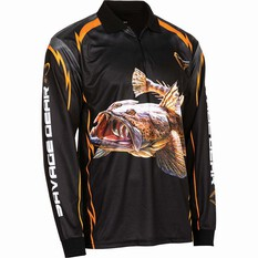 Savage Men's Flathead Sublimated Polo Black 2XL, Black, bcf_hi-res