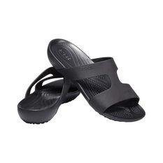Crocs Serena Slide - Womens, Black/Black, 6 Black 6, Black, bcf_hi-res