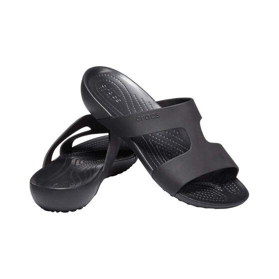 Crocs Serena Slide - Womens, Black/Black, 6, Black, bcf_hi-res