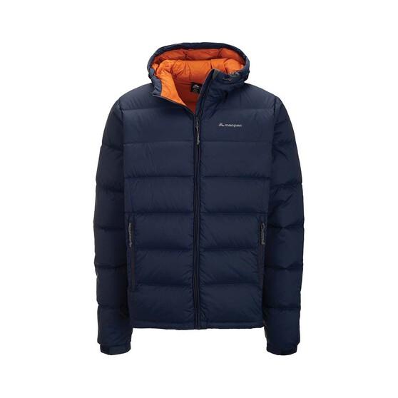 Macpac Men's Halo Hooded Jacket, Black Iris / Orange Flame, bcf_hi-res