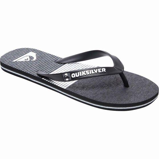 Quiksilver Men's Molokai Tijuana Thongs, Black / Grey, bcf_hi-res