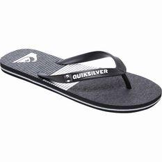 Quiksilver Men's Molokai Tijuana Thongs Black / Grey / White 8 Men's, Black / Grey / White, bcf_hi-res