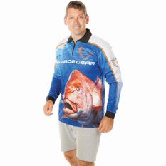 Savage Men's Snapper Sublimated Polo Blue XL, Blue, bcf_hi-res