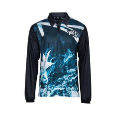 Tide Apparel Men's Bloody Oath V2 Fishing Jersey Multi S, Multi, bcf_hi-res