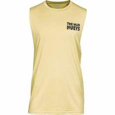 The Mad Hueys Men's Jawsome UV Muscle Tank Tan 2XL, Tan, bcf_hi-res