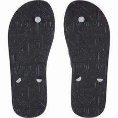 Quiksilver Men's Haleiwa II Thongs, Black / Grey, bcf_hi-res