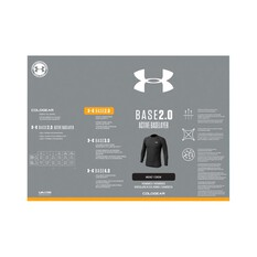 Under Armour Men's ColdGear Base 2.0 Thermal Crew Top Black / Pitch Grey 3XL, Black / Pitch Grey, bcf_hi-res
