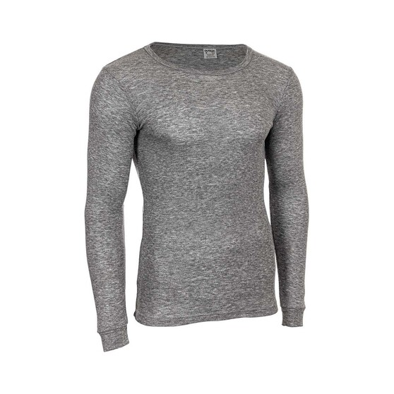 OUTRAK Polypro Men's Long Sleeve Top, Grey Marle, bcf_hi-res