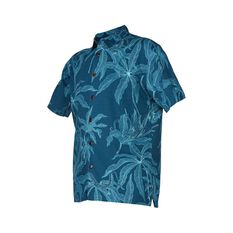 Quiksilver Waterman Men's Maliko Lizard Shirt Majolica Blue S, Majolica Blue, bcf_hi-res