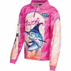BCF Kids' Marlin Sublimated Polo Pink 4, Pink, bcf_hi-res