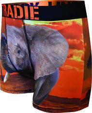 Tradie Men's Eddie Elephant Trunk Print S, Print, bcf_hi-res