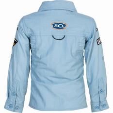 BCF Kids' Long Sleeve Fishing Shirt Spray 6, Spray, bcf_hi-res