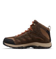 Columbia Men's Crestwood Mid Waterproof Hiking Boots Dark Brown / Dark Adobe 8, Dark Brown / Dark Adobe, bcf_hi-res