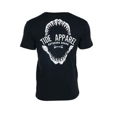 Tide Apparel Men's Jawz Tee Black S, Black, bcf_hi-res