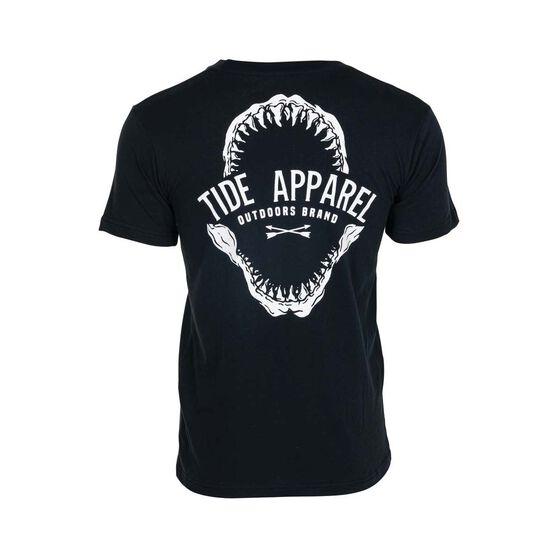 Tide Apparel Men's Jawz Tee, Black, bcf_hi-res