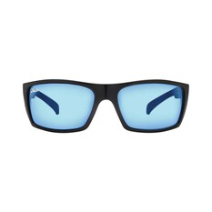 Hobie Baja Sunglasses - Men's XL Satin Black / Cobalt Mirror Lens, Satin Black / Cobalt Mirror Lens, bcf_hi-res