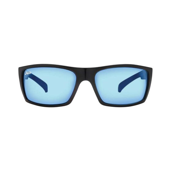 Hobie Baja Sunglasses - Mens XL Satin Black / Cobalt Mirror Lens, Satin Black / Cobalt Mirror Lens, bcf_hi-res
