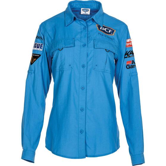 BCF Women's Long Sleeve Fishing Shirt Azure 12, Azure, bcf_hi-res