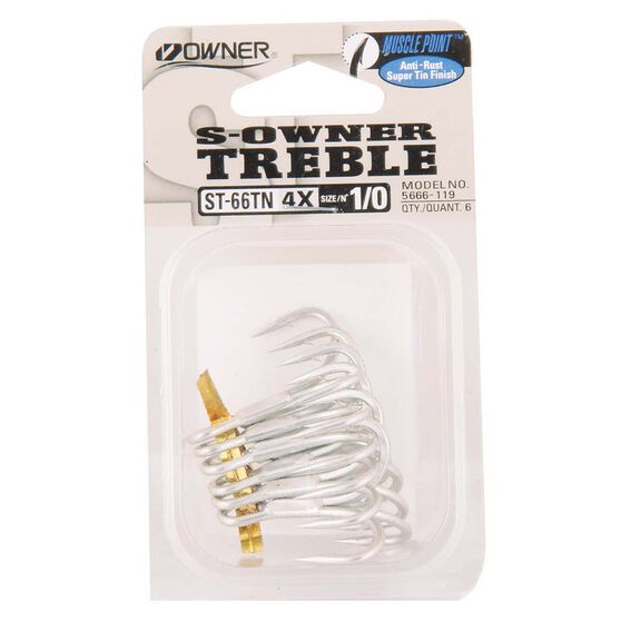 Owner 66 4X Treble Hooks, , bcf_hi-res