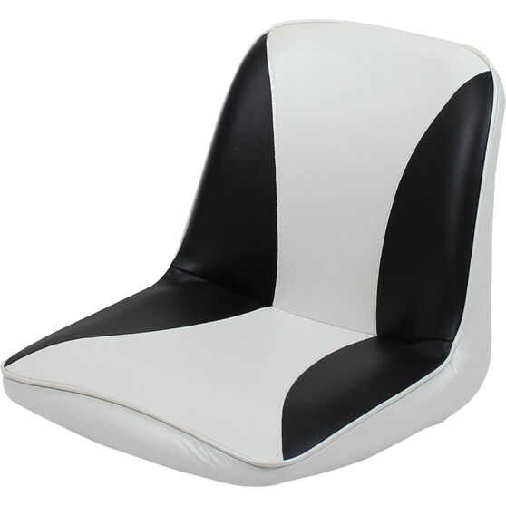 Blueline Tinnie Comfort Boat Seat Charcoal / White, Charcoal / White, bcf_hi-res