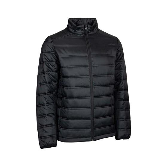 OUTRAK Men's Puffer Jacket, Black, bcf_hi-res