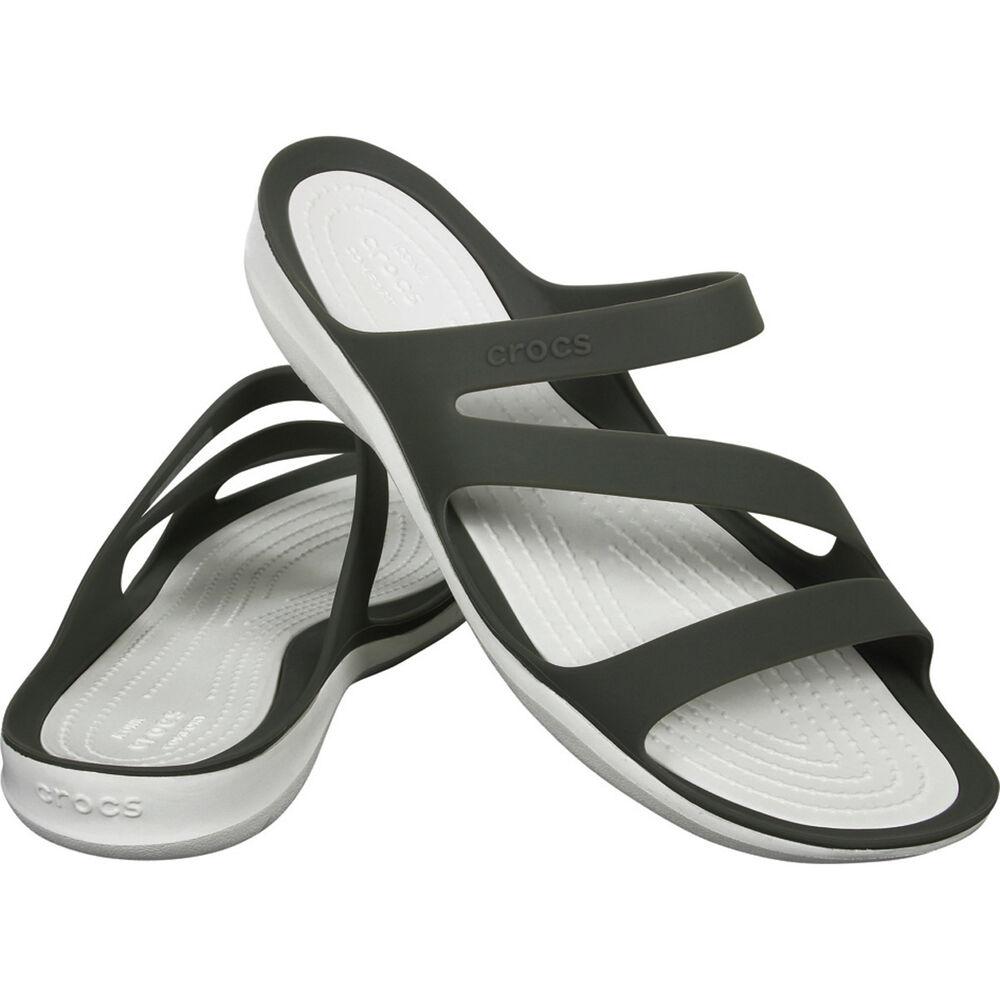d47a94acdb154 Crocs Women s Swiftwater Sandals Smoke   White 9