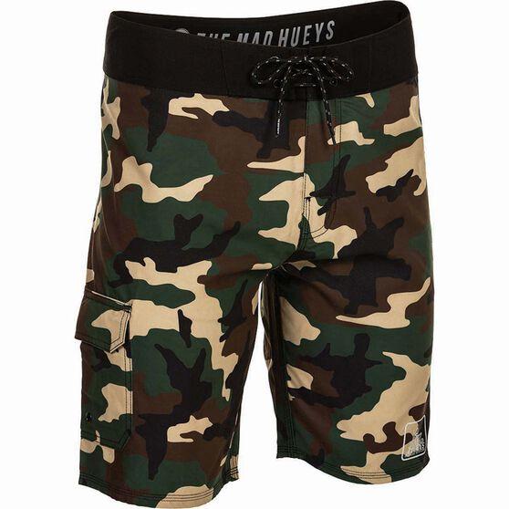 The Mad Hueys Men's Offshore Camo Boardshorts, Camo, bcf_hi-res