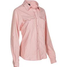Explore 360 Women's Vented Long Sleeve Shirt Pink 10, Pink, bcf_hi-res