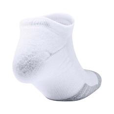 Under Armour Men's HeatGear No Show Socks 3 Pack, White, bcf_hi-res