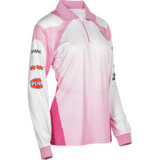 BCF Women's Corporate Sublimated Polo Pink 10, Pink, bcf_hi-res