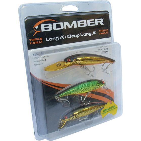 Bomber Barra Hard Body Lure Triple Pack 4, , bcf_hi-res