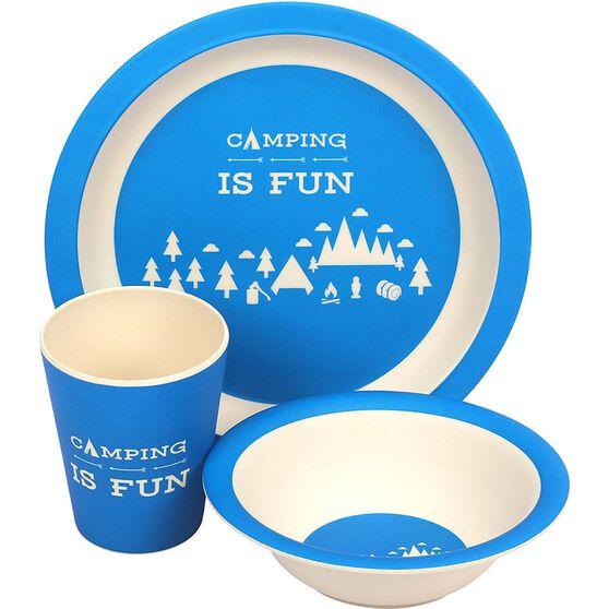 Wanderer Kids Camping Fun 3 Piece Meal Set, , bcf_hi-res
