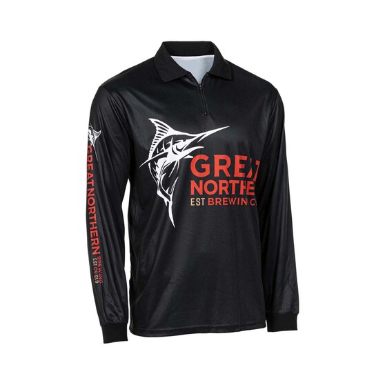 The Great Northern Brewing Co Men's  Classic Sublimated Polo Black XL, Black, bcf_hi-res